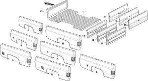 1973-91 Fleetside Steel Bed Panels