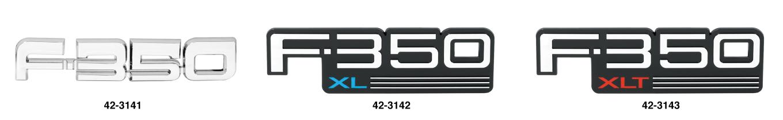 F350 Fender Emblems