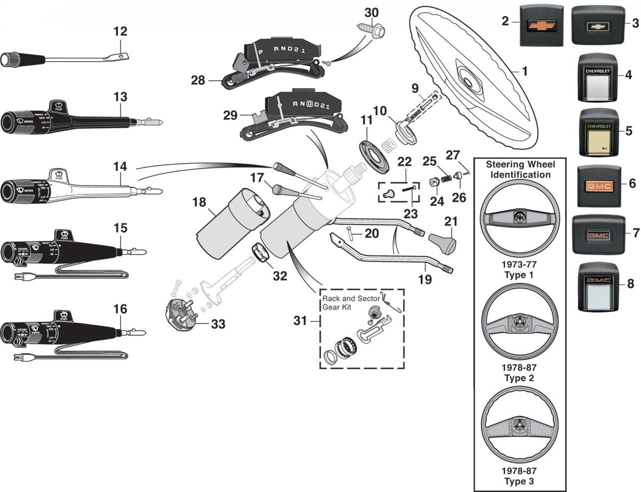 1973-89 Steering Components