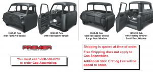 Preassembled Truck Cabs with Doors