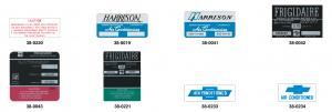 Air Conditioning & Compressor Decals