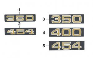 1973-76 Grille Emblems