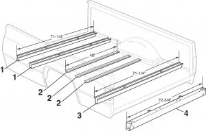 1973-91 Fleetside Steel Bed Components