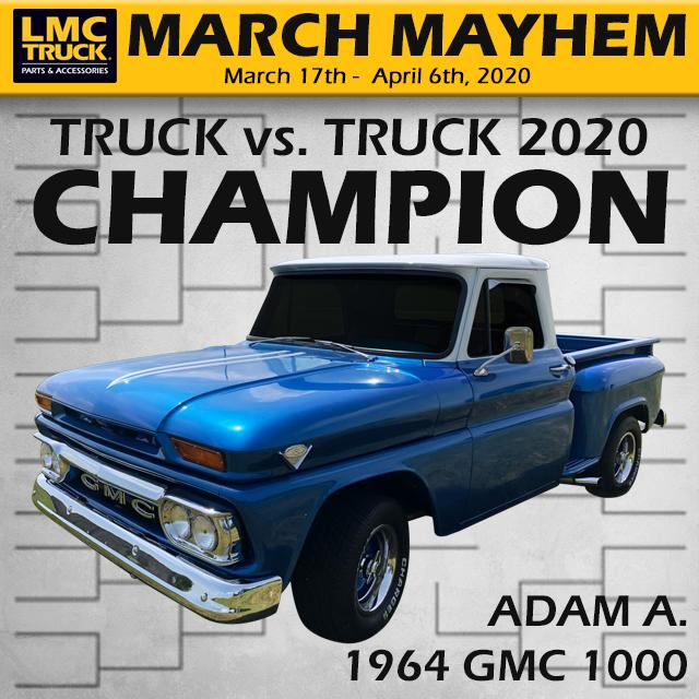 2020 March Mayhem Contest Winner - 1964 GMC 1000